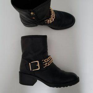 leather like booties